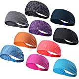 DASUTA Set of 5 Women's Yoga Sport Athletic Headband Running Sports Travel Fitness Elastic Wicking Non Slip Lightweight Multi Style Bandana Headbands Headscarf fits All Men Women