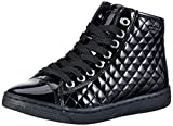 Geox Girls' Creamy D High Top Lace Up Sneaker Black 35 M EU