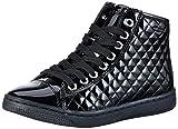 Geox Girls' Creamy D High Top Lace Up Sneaker Black 35 M EU