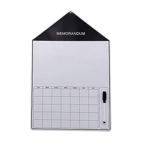 Neckip Calendario magnético para Nevera con borrado en seco para ...