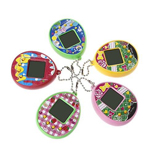 Yournamei Lcd Virtual Digital Pet Egg Handheld Electronic Game Machine Toy With Keychain