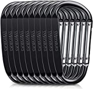 """3"""" 10 Pcs Improved Durable Spring-Loaded Gate Aluminum D Shape Carabiners Clips Hook for Home, Rv, Campin"""
