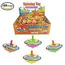 [Value Bundle] 100 Pcs LED Light Up Flashing Mini spinning Tops Novelty Bulk Toys Party Favors