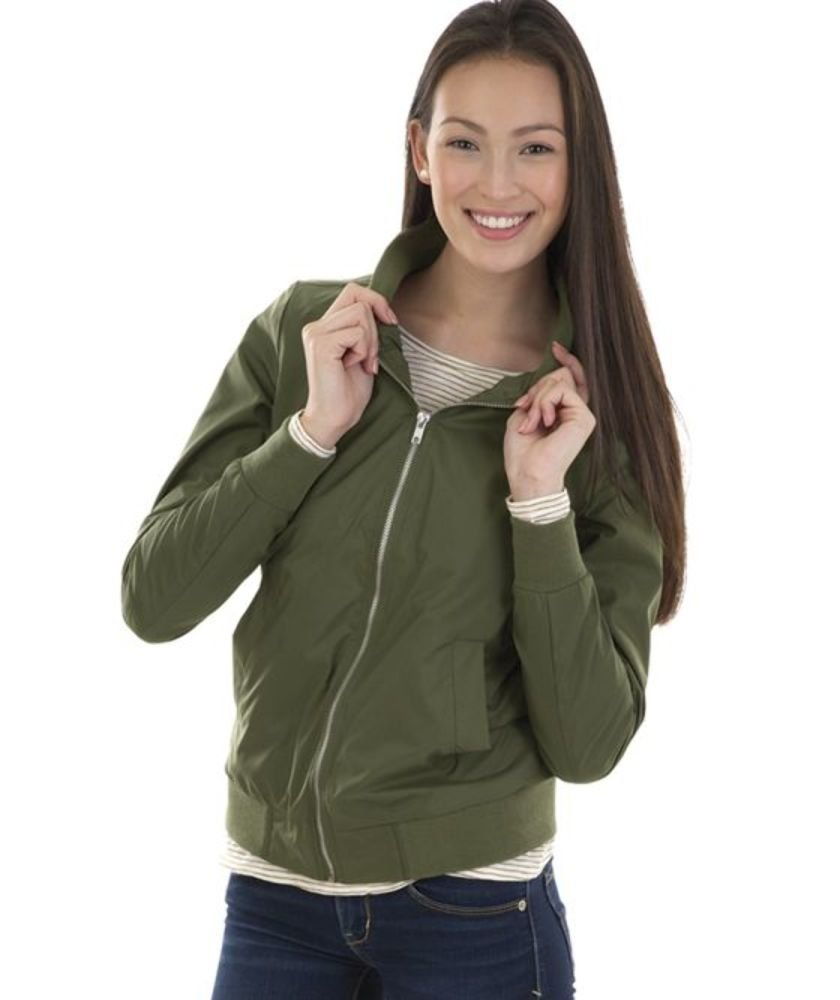Charles River Apparel Women's Boston Flight Jacket, Olive, 3XL by Charles River Apparel