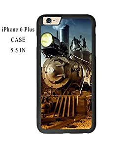 Cool Old Steam Train Plastic and TPU Case Cover for iPhone 6 Plus 5.5 Inch (Laser Technology)