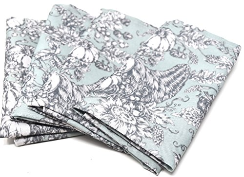 Well Dressed Home Pumpkin Harvest Easy Care Fabric Four (4)-Piece Dinner Napkin Set / Table Linens for Thanksgiving / Fall / Autumn / Halloween for $<!--$27.99-->