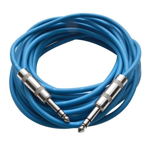 - Seismic Audio - SATRX-25Blue - 25 Foot Blue 1/4