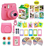Photo : Fujifilm instax Mini 9 Instant Camera Flamingo Pink + 20 Instant Film Pack, Instax Case + Instax Accessories Bundle, Kit Includes, Albums, Selfie Lens, 4 Color Lenses, Magnets Frames, by Shutter