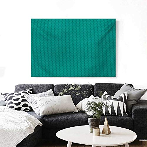 (BlountDecor Teal The Picture for Home Decoration Knitting Inspired Pattern Sewing and Crafting Hobby Themed Design Monochrome Image Print Customizable Wall Stickers 24