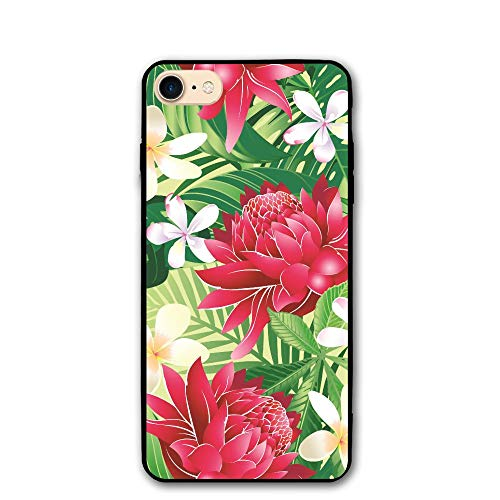 PabcDef Torch Lily PC iPhone 8/8S iPhone 7 Case Dustproof Protective 3D Phone Case Slim Back Cover 4.7 inch Ultra Thin & Light Durable Flexible ()