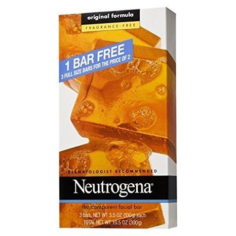 (Neutrogena Transparent Soap Bar 3 Pack Fragrance-Free (9 Bars) )