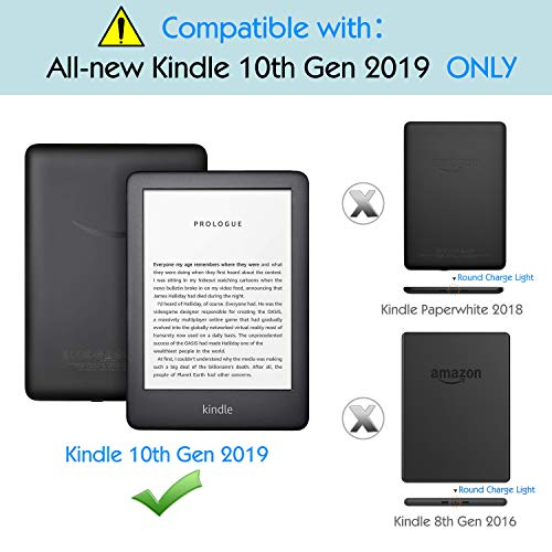 MoKo Case Fits All-New Kindle 10th Generation 2019 Release, Premium Ultra  Lightweight Shell Cover with Auto Wake/Sleep Function - Starry Night