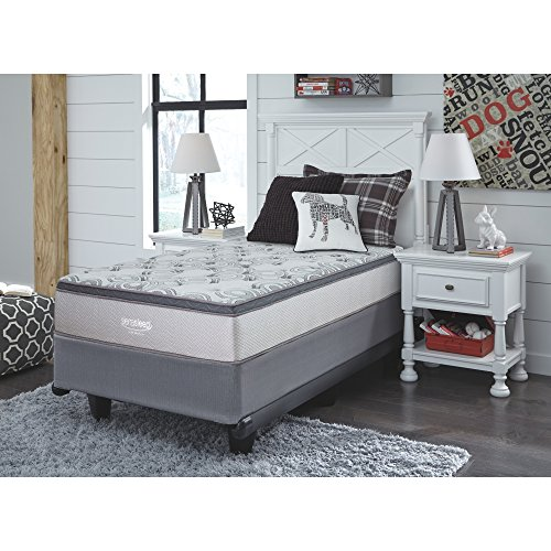Signature Design by Ashley M89911 Augusta Bed Mattress Conventional, Twin, White