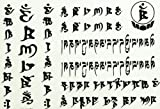 Spestyle new design fake tattoo stickers for men and women Ancient Text by SPESTYLE