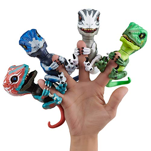 Untamed Raptor - Series 2- by Fingerlings - Hazard (Green) - Interactive Collectible Dinosaur - by WowWee