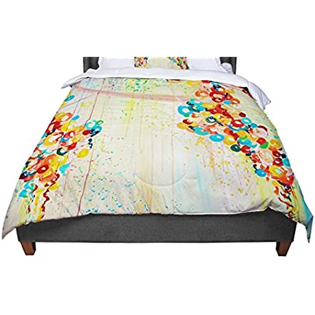 KESS InHouse Ebi Emporium Summer In Bloom King Cal King Comforter 104 X 88