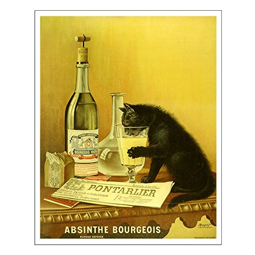CafePress Absinthe Bourgeois Chat Noir 16