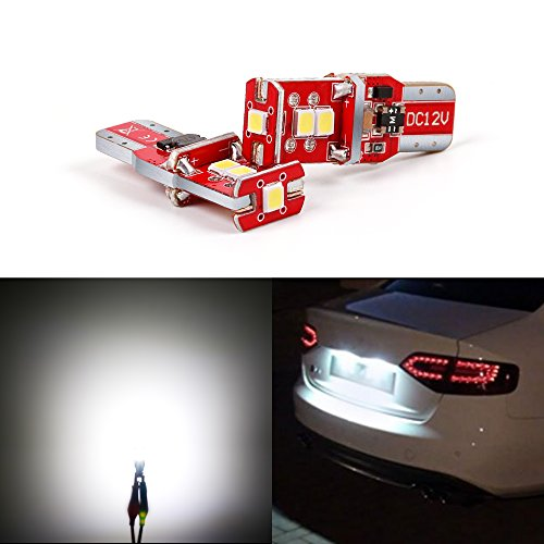 XSPEED 194 168 175 192 2825 W5W Extremely Bright Canbus Error Free RX-Chips LED Light Bulbs Xenon White For Car Interior Map Dome Side Marker Lights License Plate Light (2018 Version) (White 195 Led Bulb)