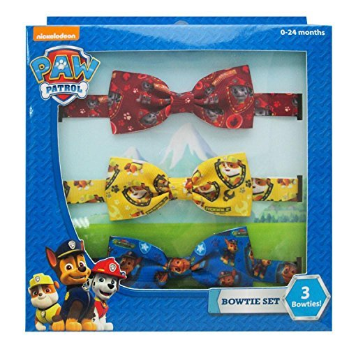 by Boys 3pc Printed Bow Tie Set 0-24 Mos Red/Yellow/Blue (Printed Bow Tie)