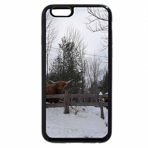 iPhone 6S Case, iPhone 6 Case (Black & White) - winter in industry, maine 2