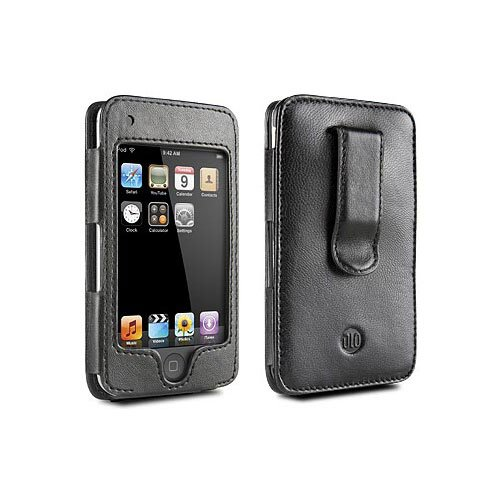 DDLO HipCase with Leather Sleeve and Belt Clip for iPod Touch (Black), Model # DLZ81002, by DLO (Digital Lifestyle Outfitters) - Dlo Surface Shields