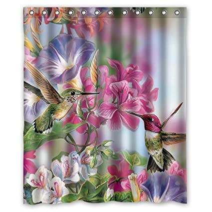 Funny Novelty Hummingbird Shower Curtain Rings Included 100 Polyester Waterproof 60quot