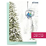 Assorted Ski Escape Blank Greeting Cards with