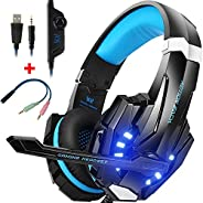 CIC G9000 Fone de ouvido Gamer Headset Reduz Ruídos Supra-Auricular Microfone Luz LED PC PS4 Xbox Laptop Ninte
