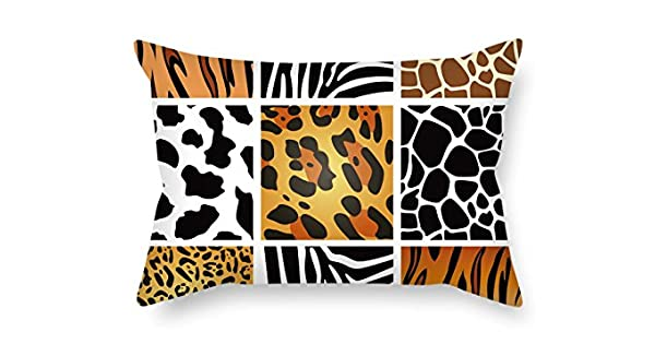 Amazon.com: TonyLegner Fundas de Almohada de Color Block ...