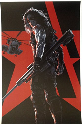 Captain America The Winter Soldier Sebastian Stan as Bucky Barnes Poster/Litho
