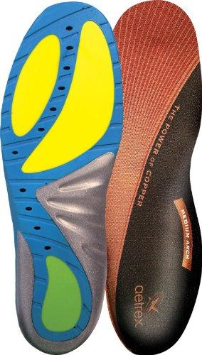 Aetrex Custom Select Series Medium Arch Orthotics Shoe Inserts for Men and Women - Men's 10 ()