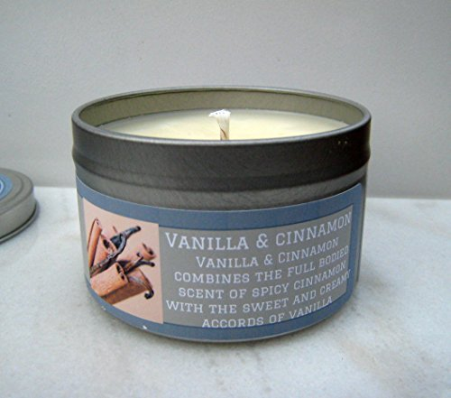Vanilla Cinnamon Scented Soy Candle Handmade by Heirloom Candles, 8oz