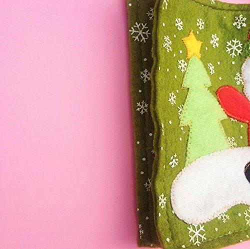 Hosaire 2X Geschenktasche Weihnachtsmann Mit Schneemann Muster Kosmetiktasche Eintritt Paket Weihnachtsdekorationen Süßigkeiten Taschen