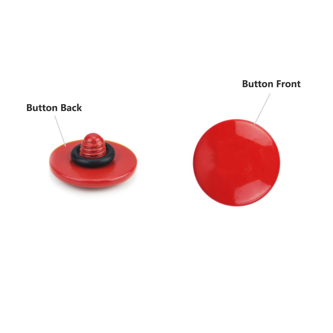 X30 X20 X-E1 X10 X-E2,X-E2S X-T10 X100 X100T X100S STX-2 XPRO-1,X100F LXH 2 PACK Orange Convex Metal Soft Release Button Finger Touch Fits any Standard Threaed Release For Fujifilm X-PRO2