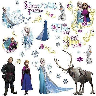 New DISNEY FROZEN Movie Wall Decals OLAF ELSA ANNA 36 Bedroom Sticker Room Decor