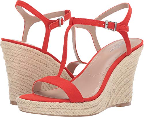 CHARLES BY CHARLES DAVID Women's Lili Espadrille Wedge Sandal Candy Red 9.5 M US