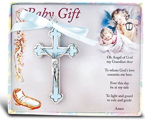 Boy's Blue Nickel Bound Baby Crucifix Lead Free ()