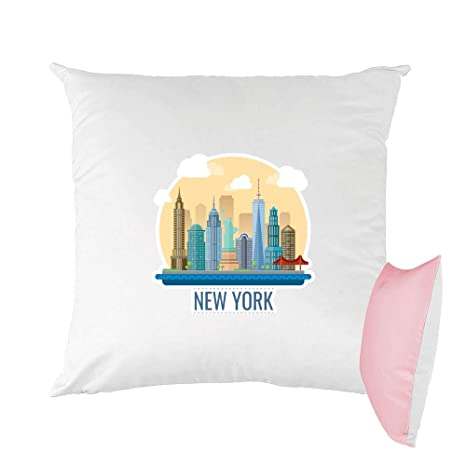 Mygoodprice cojín Bicolor Estampado 40 x 40 cm New York City ...