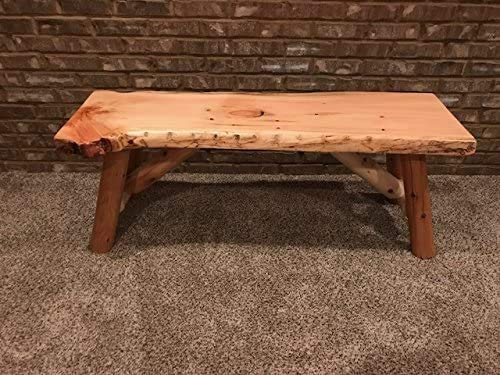 Rustic Log Bench Pine and Cedar