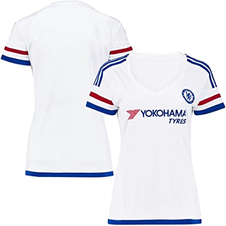 FC Fútbol Jersey para mujer Chelsea Away fútbol Jersey blanco ...