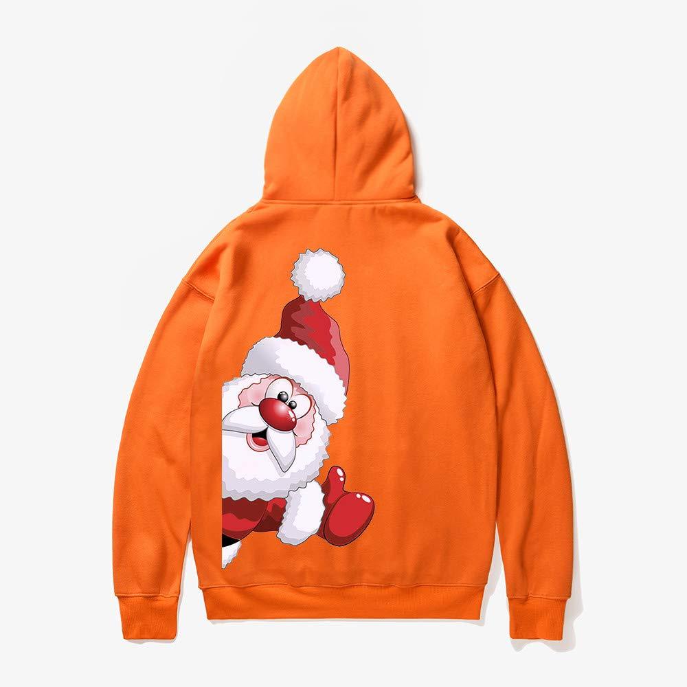 ♚ Sudadera para Hombre Santa Estampada, Hombre Mujer Invierno Santa Claus Estampado de Manga Larga Sudadera con Capucha Tops Blusa Absolute: Amazon.es: ...