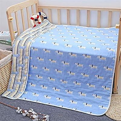 WANMT bebé Mantas Manta de Lana para bebé Manta de algodón para bebés Manta Infantil de Seis Capas, 80 * 80 cm: Amazon.es: Hogar