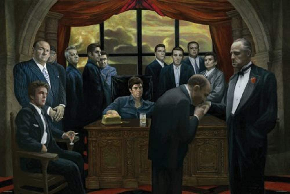 Picture Peddler Laminated Mafia Scarface Godfather Casino Gangsters Poster 24x36 inch