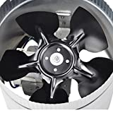 6'' 260 CFM Inline Duct Booster Vent Fan Blower Aluminum Blade