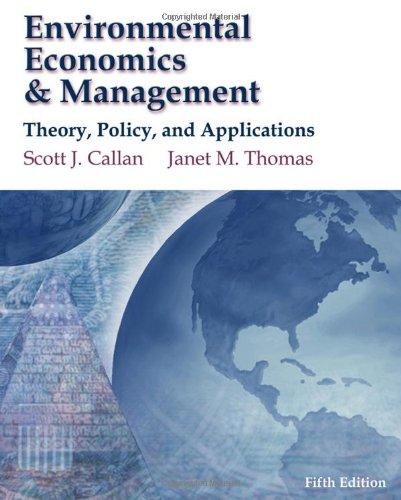 Environmental Economics & Management Theory, Policy,...