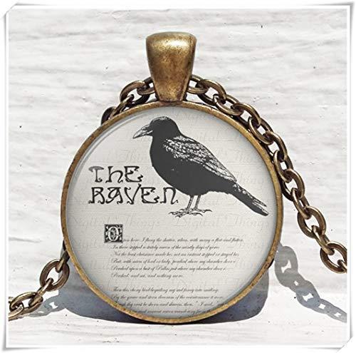 no see long time Samhain Blackbird Raven Necklace,Raven Goth Pendant, Raven Pendant, Halloween Jewelry, Raven Jewelry, -