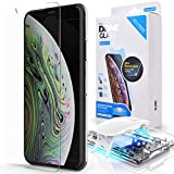 iPhone X/XS Screen Protector Tempered Glass, Full Cover Screen Shield [Dome Fix] Easy Install and Repair Kit by Whitestone for Apple iPhone 10 (2017) / iPhone 10s (2018) - 1 Pack