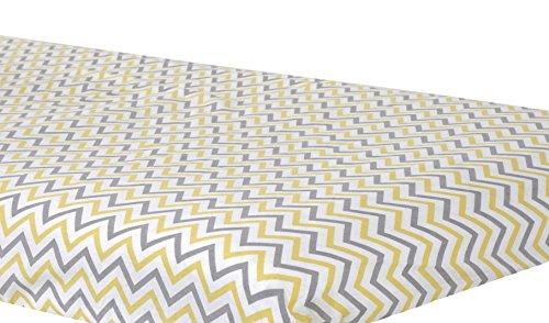 Zack & Tara Bassinet Sheet - Chic Chevrons in Yellow & Grey