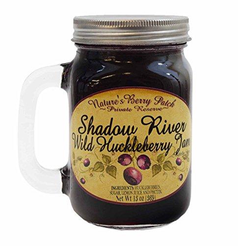 Shadow River Wild Huckleberry Gourmet Jam 13 oz Jar by Shadow River