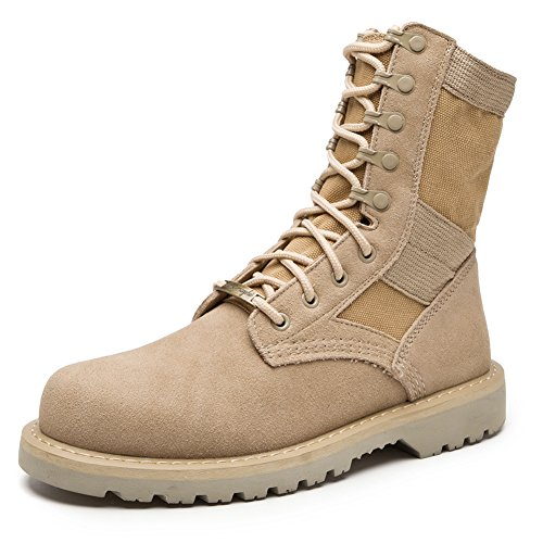 fereshte Couple Unisex Womens Mens Casual Lace-up Outdoor Mountaineering Sneakers Suede Leather Cargo Shoes Military Tactical Waterproof Desert Ankle Boots 999 Fleece High s4zGi